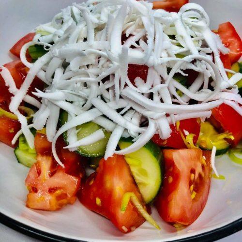 Easy Vegan Shopska Salad